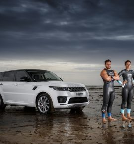 Strongman Swimming | Race The New Range Rover Sport